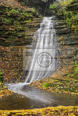 Emerald Falls Autumn - Excelsior Glen near Watkins Glen, New York