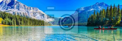 Obraz Emerald Lake,Yoho National Park in Canada,banner size