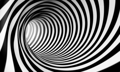 Obraz Espiral Fondo blanco y negro en 3d abstracta