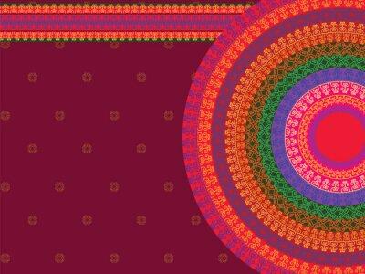 Obraz Ethnic & Colorful Henna Mandala design, very elaborate and easily editable