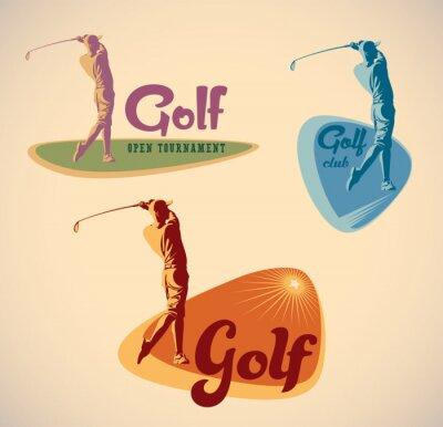 Obraz Etykiety golfowe