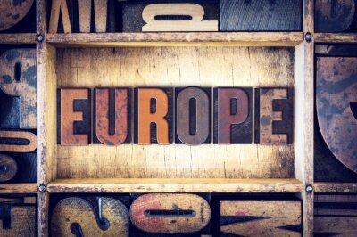 Obraz Europa Typ Concept typograficznego