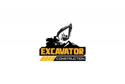 Obraz Excavator logo template vector. Heavy equipment logo vector for construction company. Creative excavator illustration for logo template.