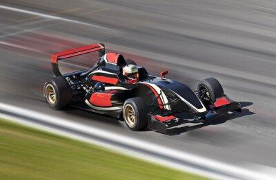 Obraz F1 wyścig wyścigi samochodowe na torze z motion blur