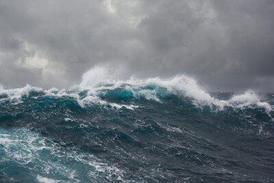 Obraz Fala morze podczas sztormu na Oceanie Atlantyckim