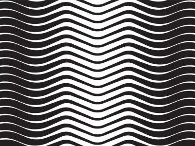 Obraz fala optyczna abstrakcyjne paski czarnym tle