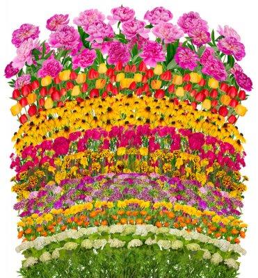 Obraz Fale Kwiatowe fantastyczne łóżko pojedyncze