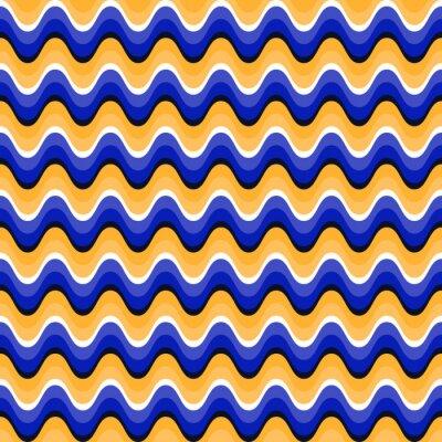 Obraz Falista szwu z złudzenie optyczne ruchu. Swatch jest przymocowany