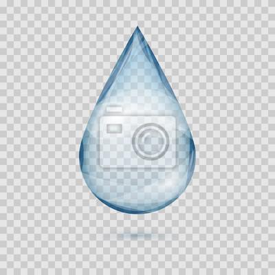 Obraz Falling przejrzyste krople wody wektor izolowanych