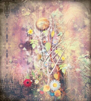 Obraz Fantasy krajobraz z zaczarowanym drzewem