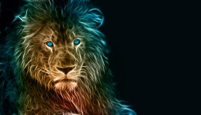 Obraz Fantasy sztuki cyfrowej lwa