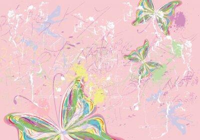 Obraz Farby motyl