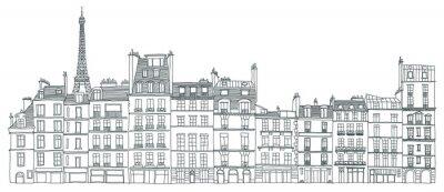 Obraz Fasady de Paris avec Tour Eiffel