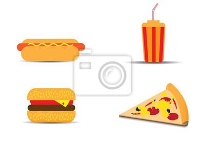 Obraz Fast Food wektor zestaw