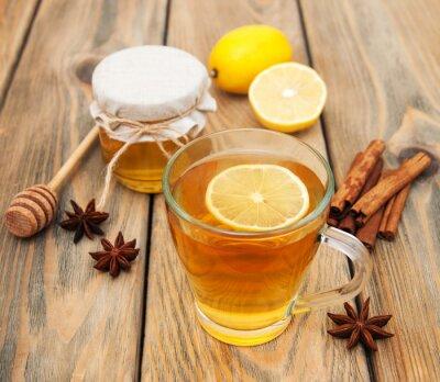 Obraz Filiżanka herbaty z miodem