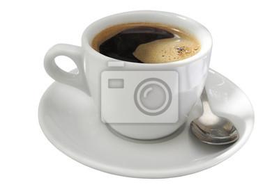 Filiżanka kawy z łyżeczką