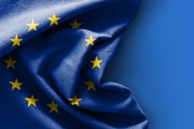 Obraz Flaga Europy na niebieskim tle