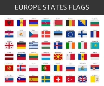 Obraz Flaga Europy stwierdza, wektor zestaw