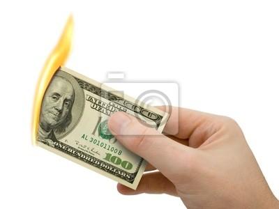 Flaming pieniędzy w kasie
