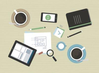 Obraz Flat ilustracji nowoczesnych spotkań biznesowych
