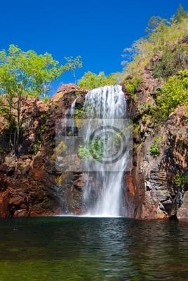 Florence Falls w Litchfield w tropikalnej Australii