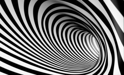 Obraz Fondo espiral abstracta 3d en blanco y negro