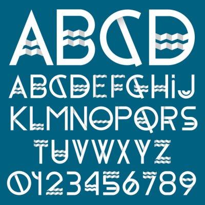 Obraz Font Papier i numery