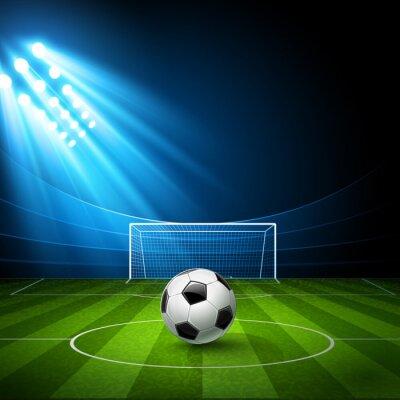 Obraz Football Arena z piłką nożną. Wektor
