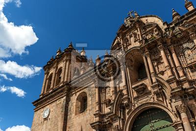 Fragment fasady katedry w Cusco, Cusco, Peru