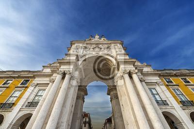 Fragment Łuk Triumfalny w Praça do Comercio w Lizbonie, Portugalia