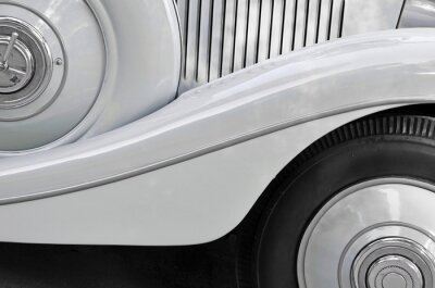 Obraz Fragment starego nadwozia samochodu