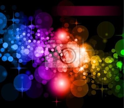 Obraz Futurystyczne Tło Lights Rainbow dla plakatu Flyers
