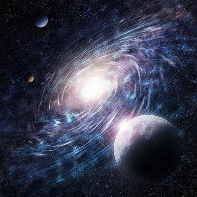 Obraz Galaxy niebieski kreatywny