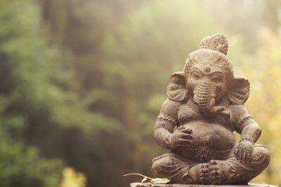 Obraz Ganeśa kamienny posąg bóstwa