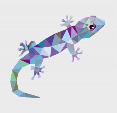Obraz Gecko wektora trójkąt niskie wielokąta