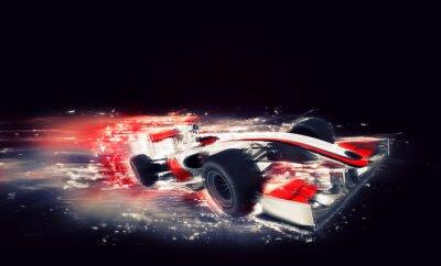 Obraz Generic bolid F1 ze szczególną mocą prędkości