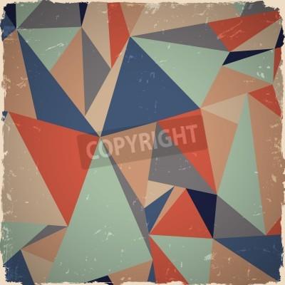 Obraz Geometryczne grunge w kolorach retro