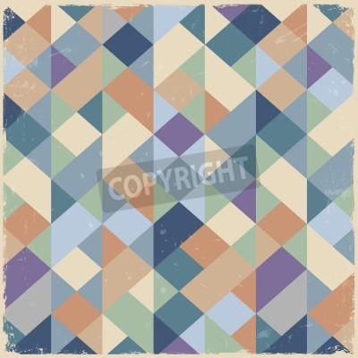 Obraz Geometryczne tle retro w pastelowych kolorach
