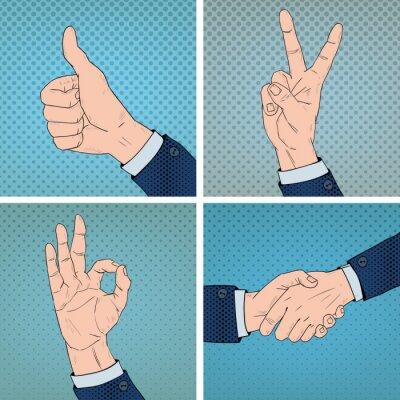 Obraz Gestów Położony w Comic stylu pop