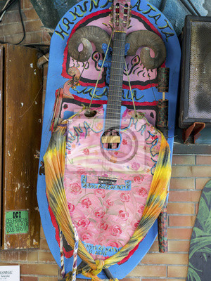gitara sztuka malowane na Krecie