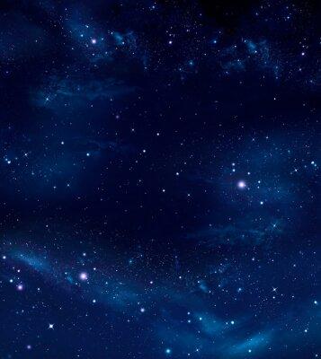 Obraz głęboka przestrzeń, streszczenie niebieskim tle