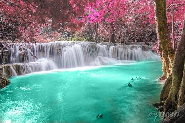 Obraz Głębokie lasu wodospad w Kanchanaburi
