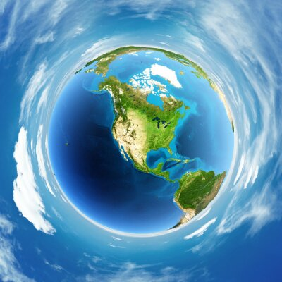 Obraz Globe prawdziwa ulga