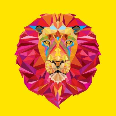 Obraz Głowa lwa w geometryczny wzór