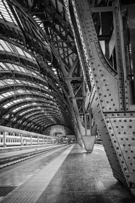 Obraz Główny dworzec kolejowy w Mediolanie - binarny