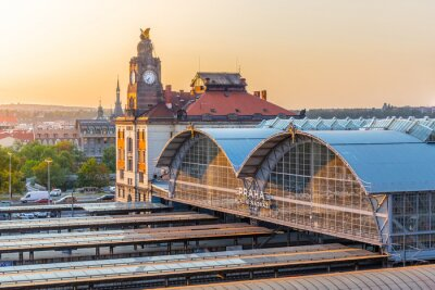 Obraz Główny dworzec kolejowy w Pradze, Hlavni nadrazi, Praga, Republika Czeska