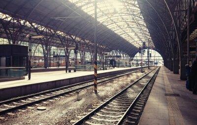 Obraz Główny dworzec kolejowy w Pradze, Republika Czeska.