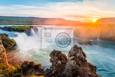 Godafoss, niesamowite wodospad w Islandii