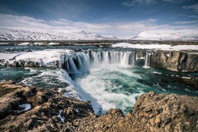 Obraz Godafoss Wodospad auf Wyspa