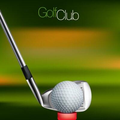 Obraz Golf Kontekst Wszystkie elementy są w oddzielnych warstwach i pogrupowane.